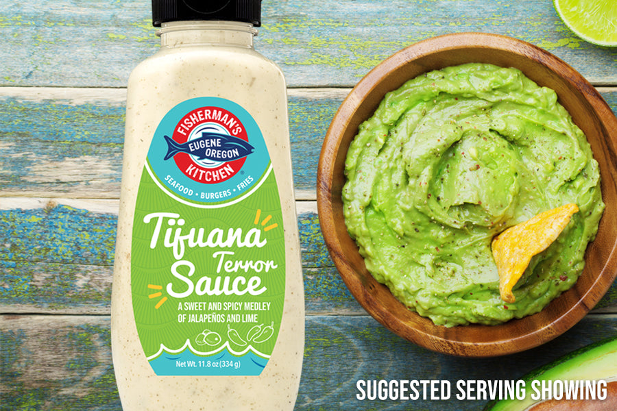 Fisherman's Kitchen Spicy Guacamole Recipe with Tijuana Terror Sauce