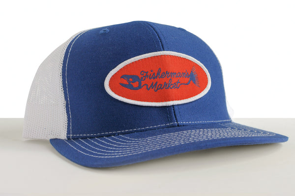 Fisherman's Market Trucker Cap Blue/White