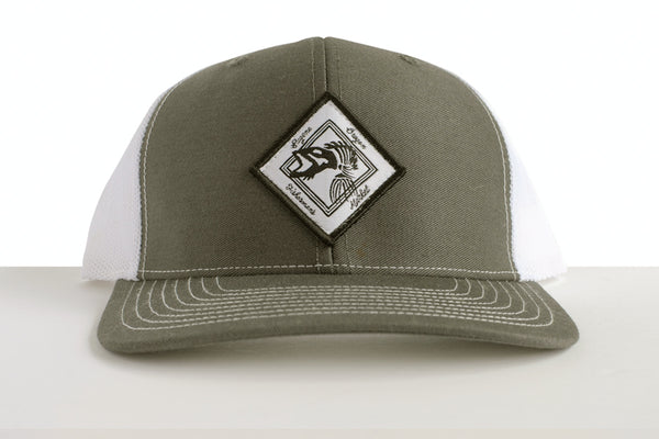 Fisherman's Market Cap Trucker Cap Gray/White