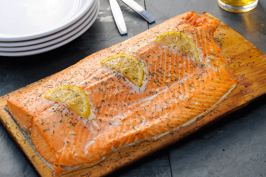 Fisherman's Kitchen Cedar Planked Salmon