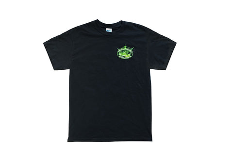 Fisherman's Market Our Fish is Off the Hook Logo'd T-shirt Front Black with Green Graphics