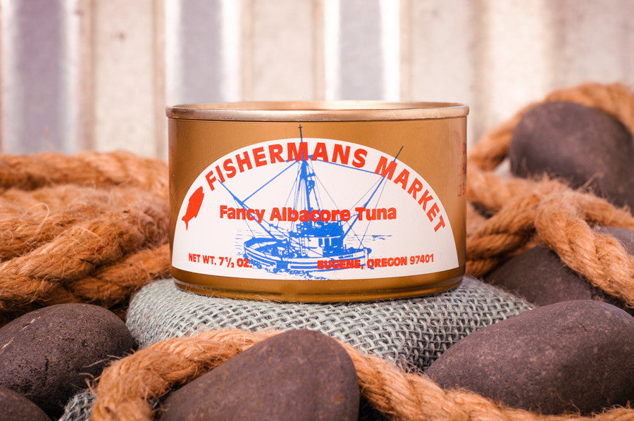 Fisherman's Market canned, fancy, fresh-packed Albacore Tuna. Fresh caught Oregon Coast fish.