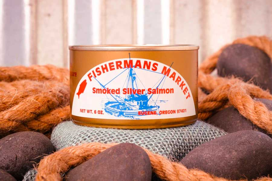 Fisherman's Market Canned Wild Caught Silver Salmon House Smoked