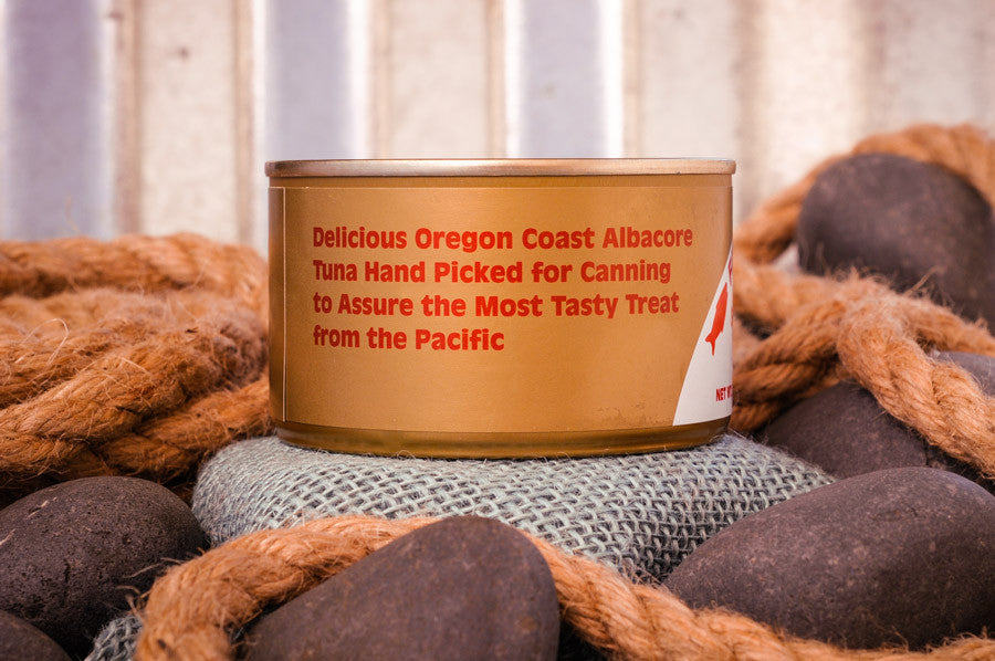 Fisherman's Market canned smoked Albacore Tuna. Wild-caught Oregon Coast fish.