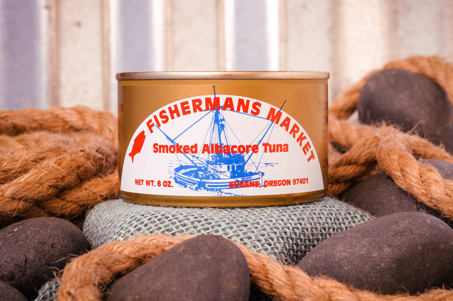 Fisherman's Market canned, smoked Albacore Tuna. Wild-caught Oregon Coast fish.