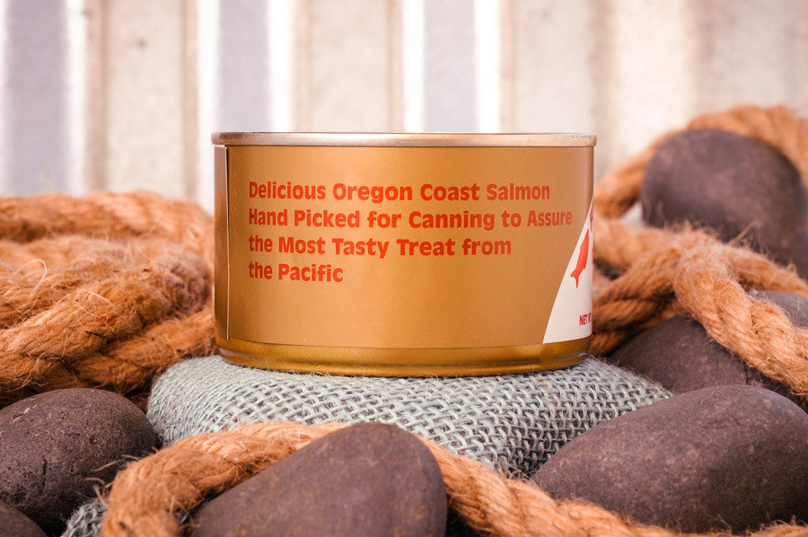 Fisherman's Market Canned Smoked Silver Salmon. Wild-caught Oregon Coast fish.