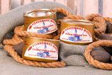 Canned smoked Chinook Salmon Silver Salmon and Albacore Tuna. Fisherman's Market Dinghy Gift Box. Fresh caught Pacific Northwest fish.