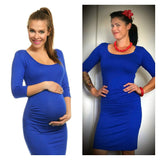 Stretch Bodycon Dress with Ruched Waist