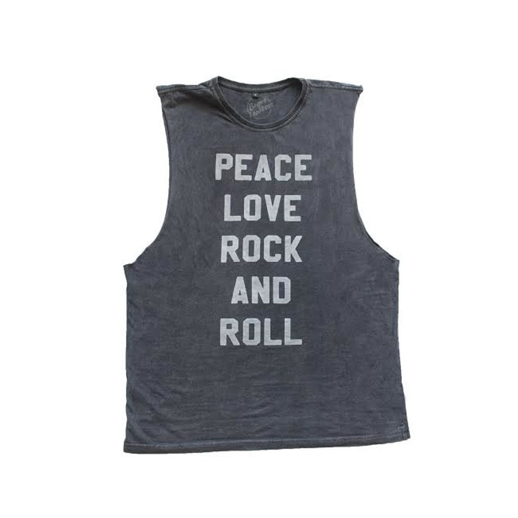 Peace Love & Rock and Roll Adult Tee