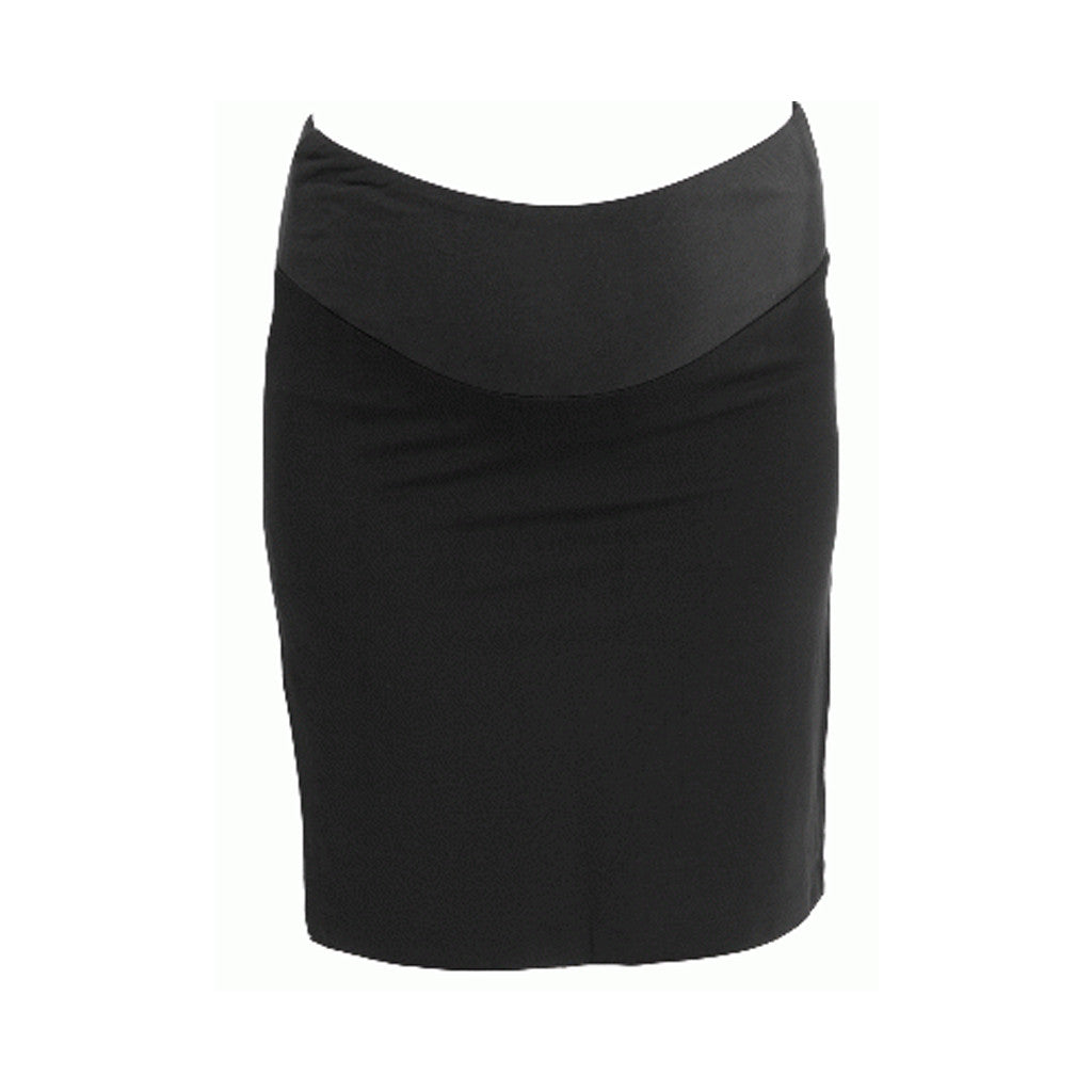 Plain black pencil Maternity Skirts