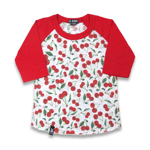 Six Bunnies White Cherries Raglan