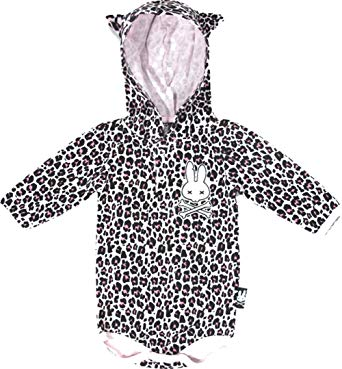 Six Bunnies LEOPARD PRINT Long Sleeve Onesies Sleepsuits