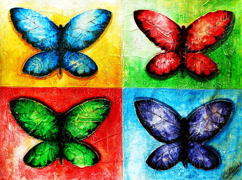 Butterflies Edras Francisco Rodriguez Original Cuban Art