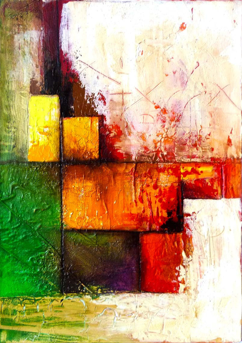 Color Field Edras Francisco Rodriguez Abstract Original Cuban Art