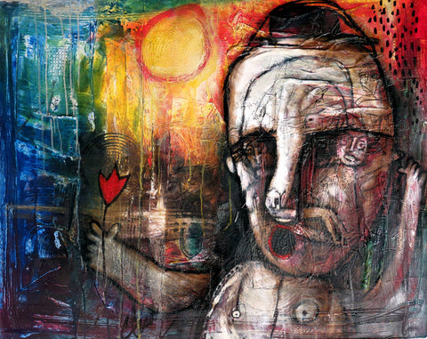 Carlos Cesar Flor y Sol Cubanocanadian Cuban Art for Sale