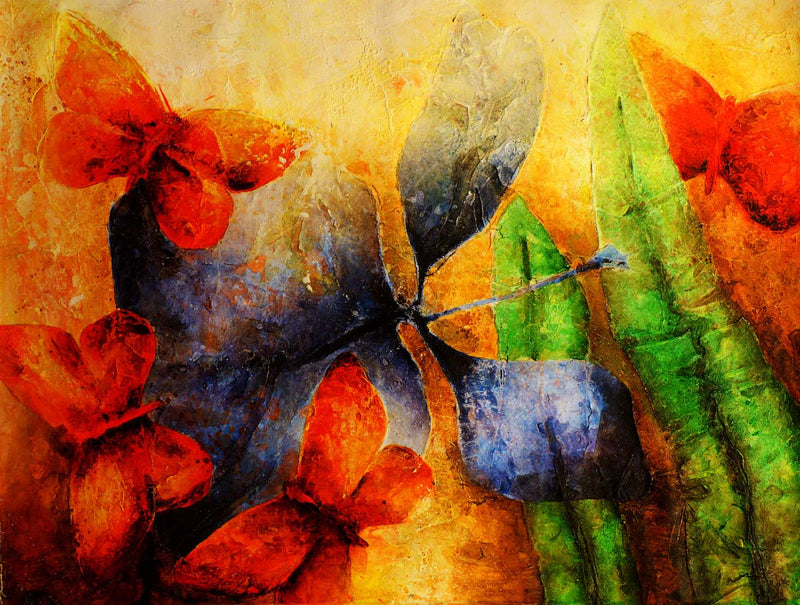 Mariposas 2  Edras Francisco Rodriguez Original Cuban Art