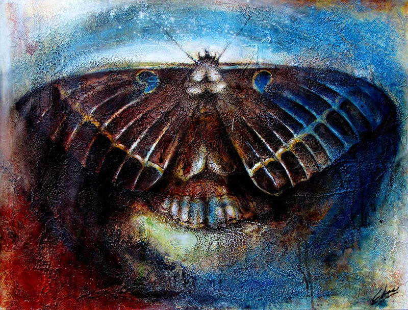 Moth Edras Francisco Rodriguez Original Cuban Art