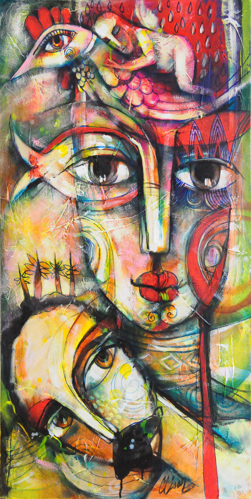 Recuerdos Compartidos Carlos Cesar Original Cuban Art for sale Arte Cubano