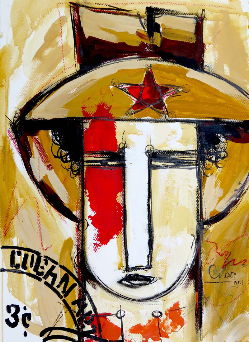 Julio Cesar Cepeda SELLO Original Cuban Art Cubanocanadian