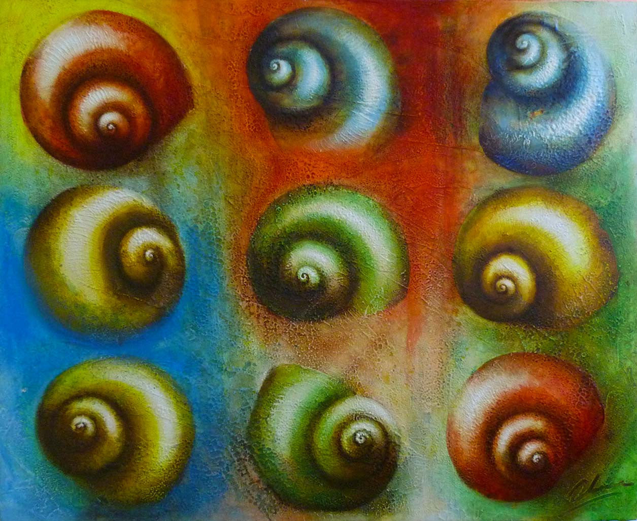 SPIRALS 1 Edras Francisco Rodriguez Original Cuban Art
