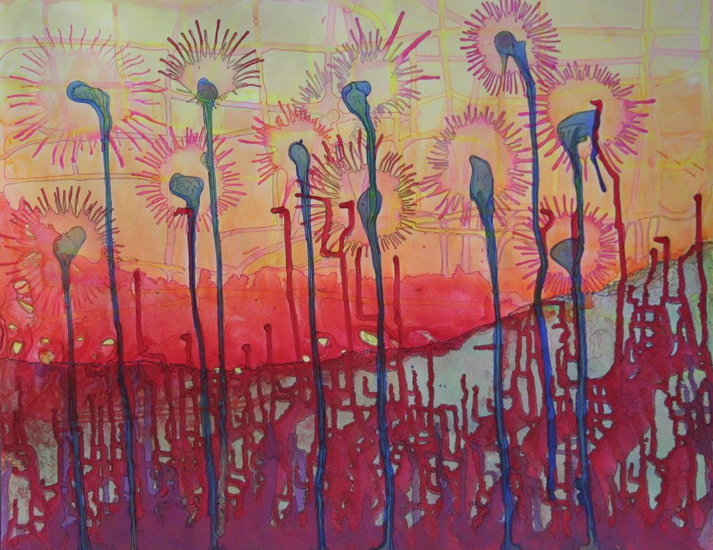 Kurt Walther Street Lamps Cubanocanadian Art for Sale