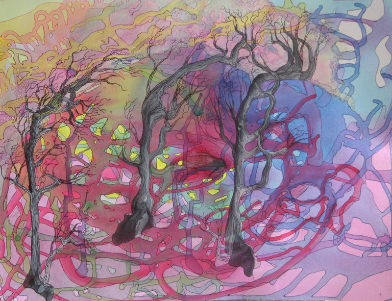 Kurt Walther Three Trees Cubanocanadian Art for Sale