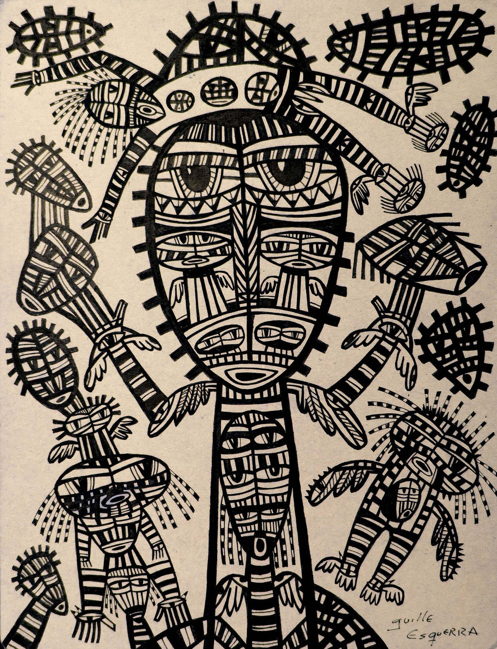 Totem Guillermo Esquerra Diaz Original Cuban Art