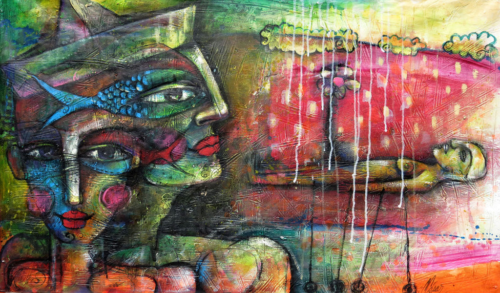 Under the Ground Carlos Cesar Roman Original Cuban Art Arte Cubano