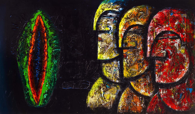 Julio Cesar Cepeda UNTITLED Original Cuban Art Cubanocanadian