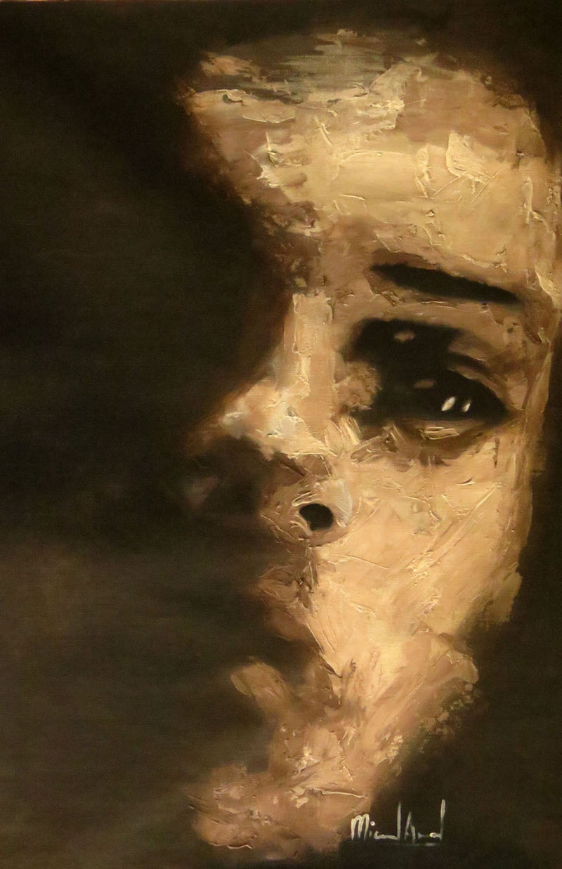 Untitled Portrait Miguel Angel Original Contemporary Cuban Art for sale