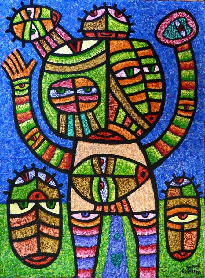 Welcome Home Guillermo Esquerra Diaz Original Cuban Art