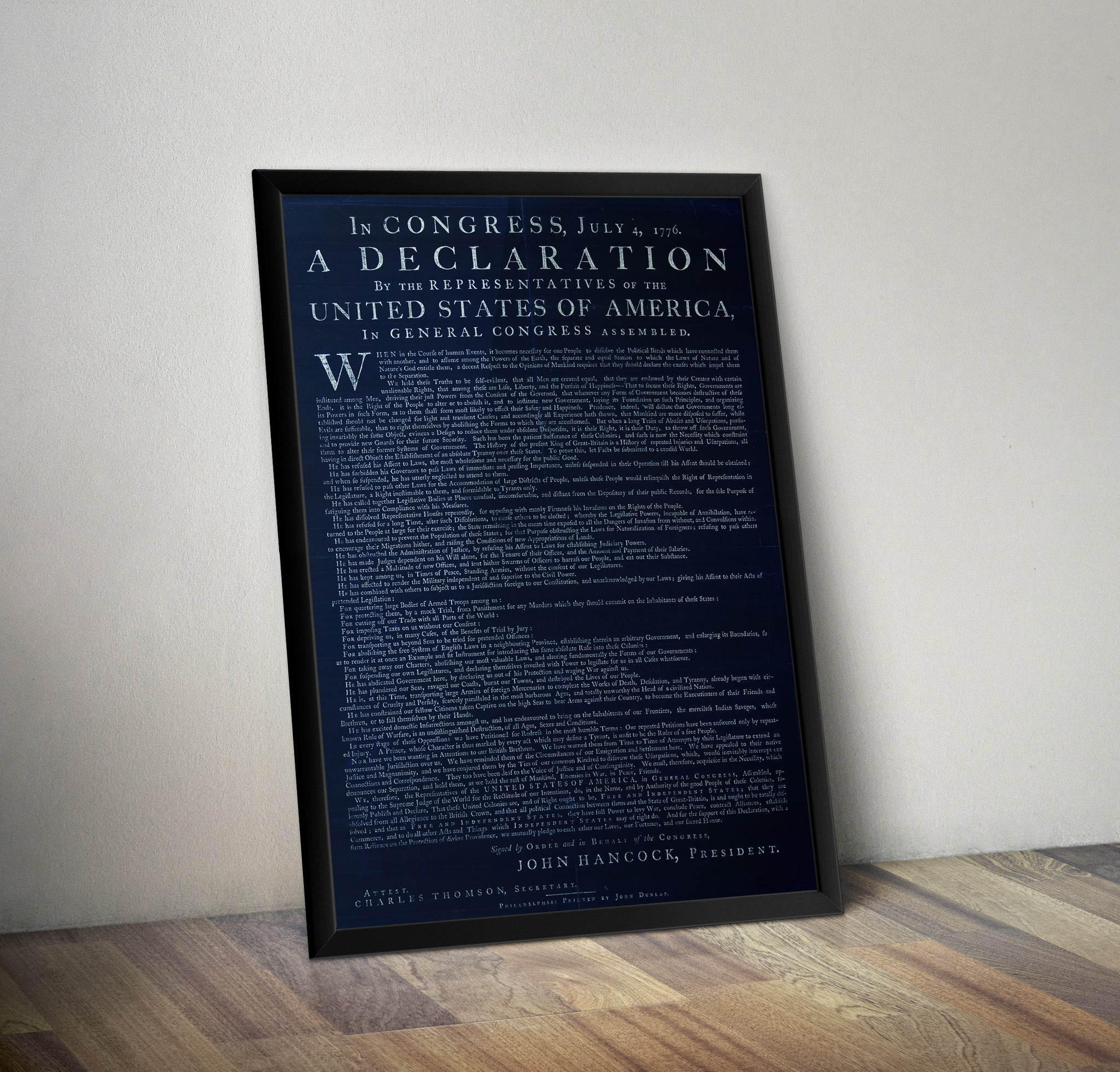 It is a picture of Printable Copy of the Declaration of Independence with template