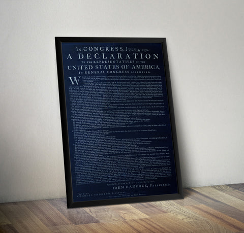 Dunlap's First print of the Declaration of Independence - 1776 LIMITED DARK EDITION - Historia Posters