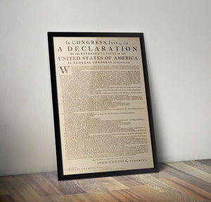 First Print of the Declaration of Independence - 1776 - Historia Posters
