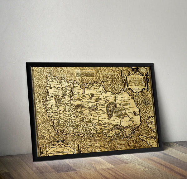 Map of Ireland in 1573 - Historia Posters