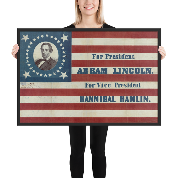 President Abraham Lincoln Campaign Poster- 1860 - Historia Posters