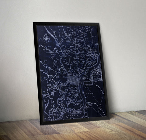Philadelphia in 1777 - Dark Theme - Historia Posters