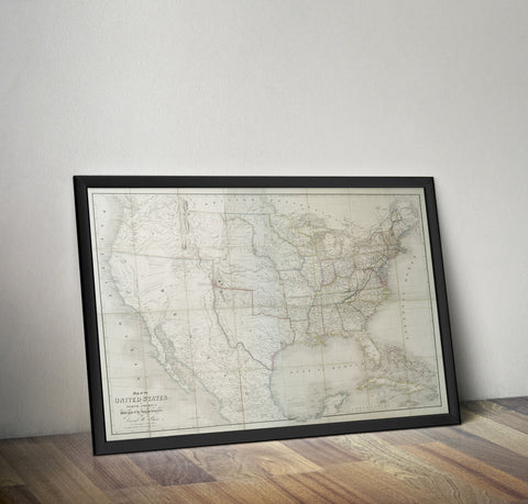 David Burr's Map of North America - 1839 - Historia Posters