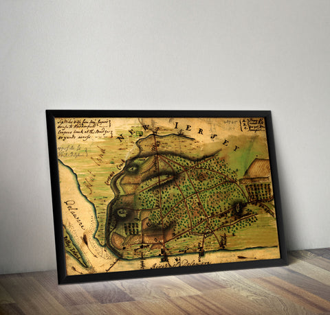 Camden New Jersey in 1778 - Historia Posters
