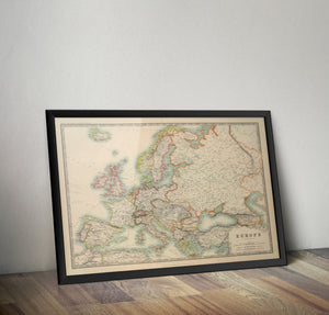 Pre World War 1 Map of Europe - 1910 - Historia Posters