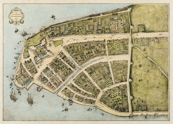 Redraft of the Costello Plan of New Amsterdam  - 1660 - Historia Posters
