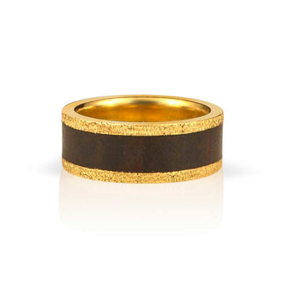 African Blackwood Wedding Ring