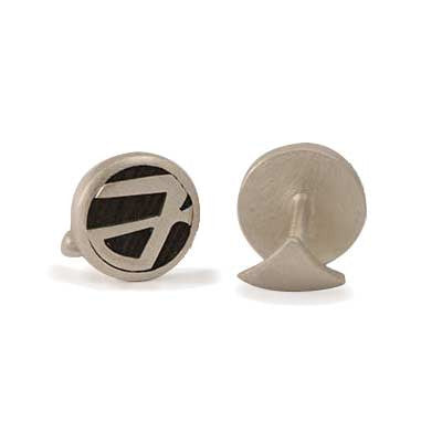 Wooden-Initials cufflinks