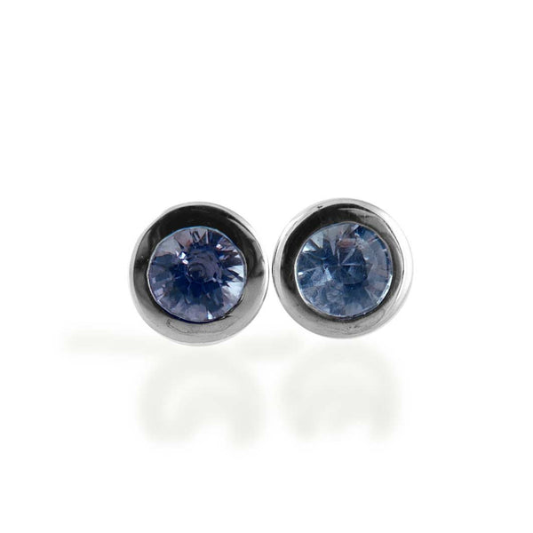 Blue sapphire stud earrings- Naturally selected