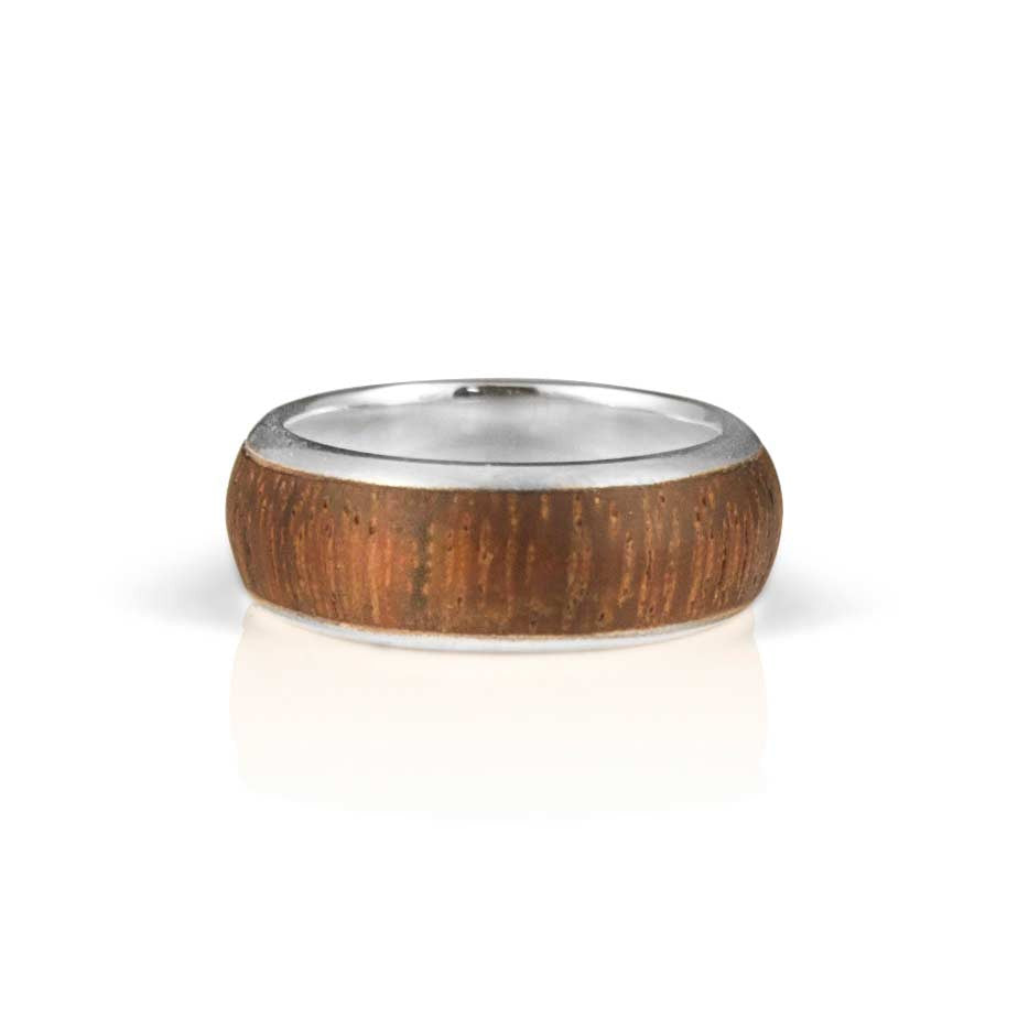 East Indian rosewood and silver band