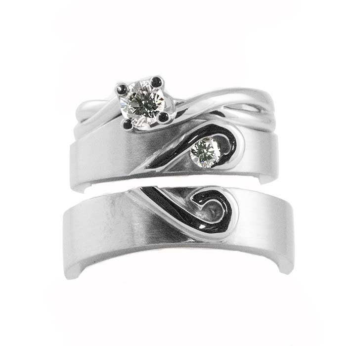 fitted women's band & matching gents bands