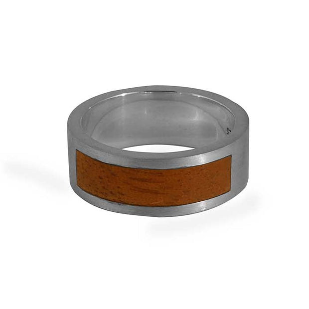 Silver and Fiji Mahogany Ring
