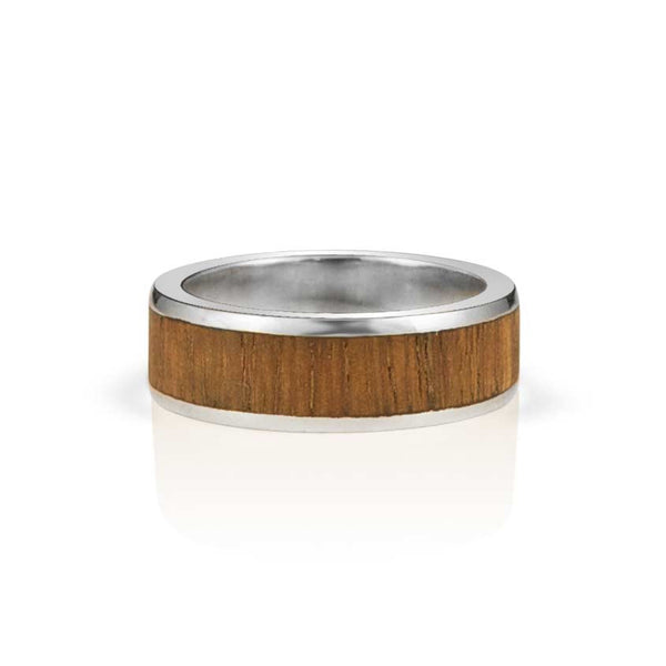 African mahogany 10k gents ring
