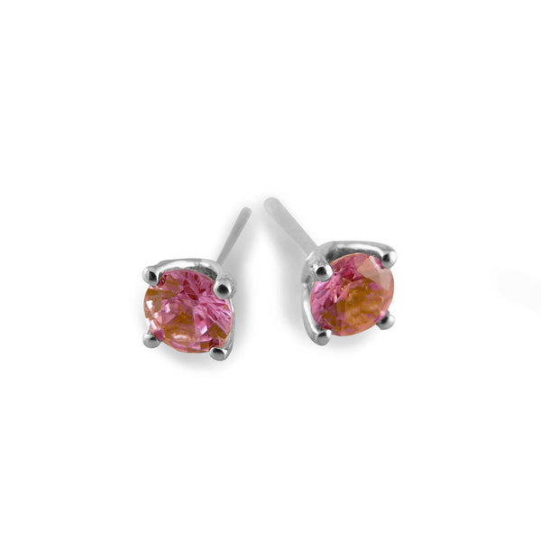 Pink sapphire stud earrings- Naturally selected