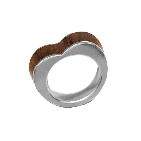 wood heart ring